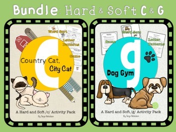 Bundle: Hard and Soft C and G Activities and Worksheets