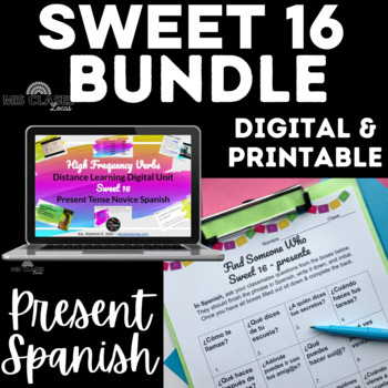 Bundle - High Frequency Verb Unit & Find Someone Who - Sweet 16 - present