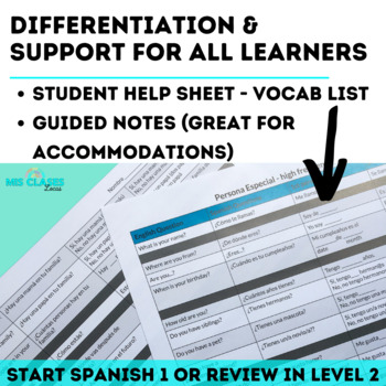 Bundle - High Frequency Verbs Units - Super 7 - present, imperfect & preterite