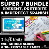 High Frequency Verbs Units present, imperfect & preterite Spanish class Bundle