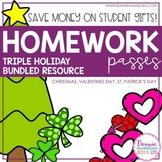 Bundle! Homework Passes for 3 Holidays