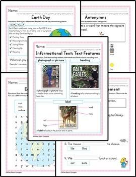 Bundle - Homework or Class Activities - Kindergarten & First Grade
