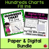 Bundle Hundreds Chart Missing Numbers Activities - Distanc
