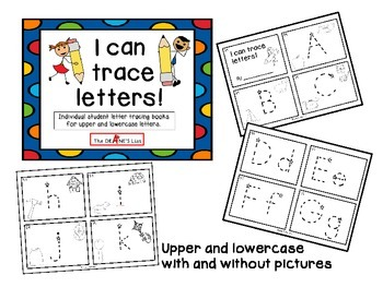 Bundle: I can trace! Student tracing books for lines, shapes, letters, & numbers