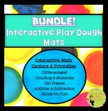 Bundle! Interactive Play Dough Math Mats & Printables