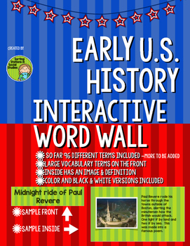 *Growing* Bundle! Interactive Word Wall for Early U.S. History