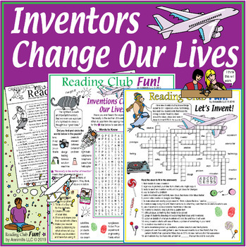 Bundle: Inventions and Inventors Two-Page Activity Set and Crossword Puzzle