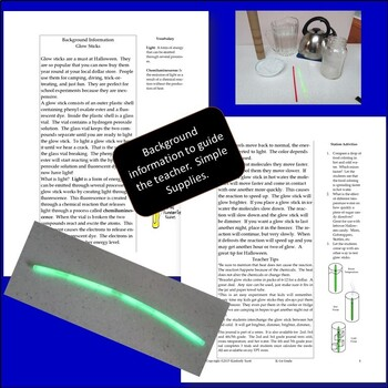 Bundle:  Investigating the Brightness of Glow Sticks:  K-5th Grade Experiment