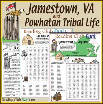 Bundle: Jamestown, Powhatan Tribe, and First People (Nativ