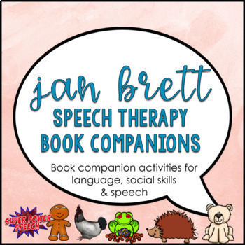 Bundle: Jan Brett Speech Therapy Book Companions