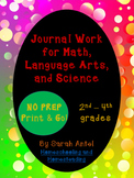 Bundle: Journal Work for Math, Language Arts, & Science