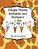 Bundle Jungle Theme ABC 1-100