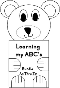 Bundle Learning my ABC's letters Aa Thru Zz Books