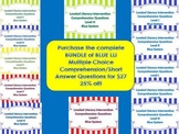 Bundle Leveled Literacy Intervention LLI Comprehension Skills C-N Blue System