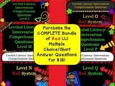 Bundle Leveled Literacy Intervention LLI Comprehension Ski