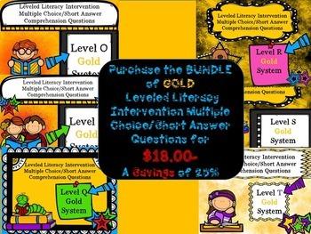 Bundle Leveled Literacy Intervention LLI Comprehension Skills O-T GOLD System