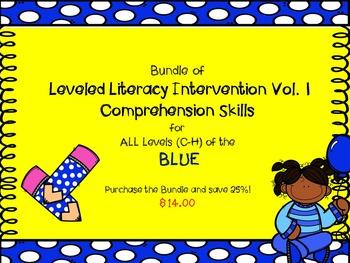 Bundle Leveled Literacy Intervention Vol. 1 LLI Comprehension Skills C-H Blue
