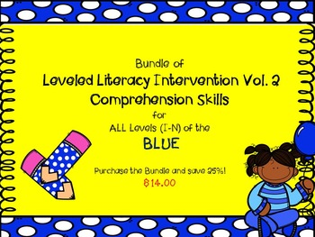 Bundle Leveled Literacy Intervention Vol. 2 LLI Comprehension Skills C-H Blue