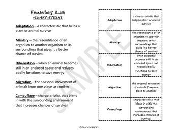 Bundle: Life Science Vocab Pack