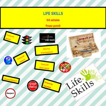 Bundle of 6 - Life Skills - 6 Editable  Power Points
