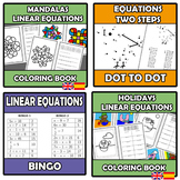 Bundle - Linear equations - 12 ITEMS