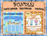 SPRING SUMMER  Bundle!  MATH GAMES! ELA! PRINTABES! WRITING! GRADES 2 - 3