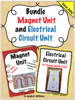 Bundle: Magnet Unit and Electrical Circuit Unit With Interactive Notebook Flaps
