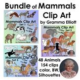 Bundle Mammals Clip Art