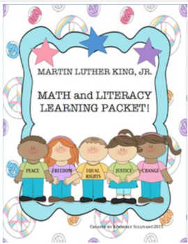 Bundle Martin Luther King Jr Printables and Math Challenges!  Centers!