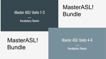 Bundle: MasterASL! Units 1-6 Vocabulary