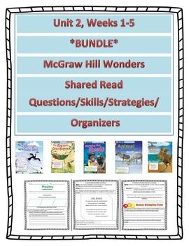 *Bundle* McGraw Hill Wonders UNIT 2 Weeks 1-5 Shared Readi