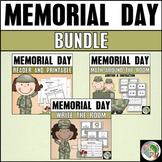 Memorial Day Bundle - Reader, Write the Room, and Math Aro