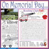 Bundle: Memorial Day Two-Page Activity Set, Word Search, a