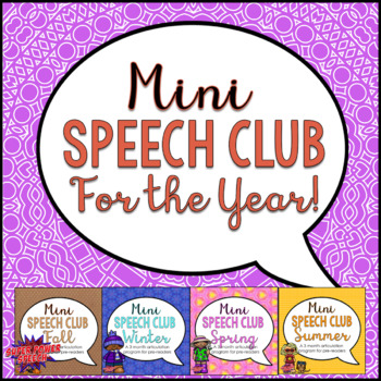 Bundle: Mini Speech Club for the Year