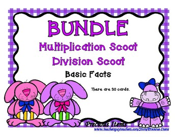 BUNDLE - Multiplication Bunny and Division Hippo Scoot