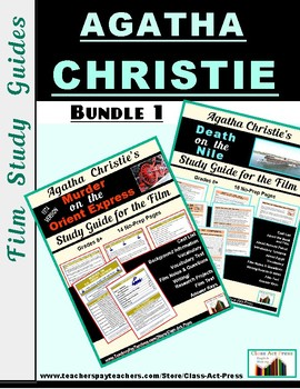 """Bundle: """"Murder on the Orient Express,"""" """"Death on the Nile"""" Film Study Guides"""