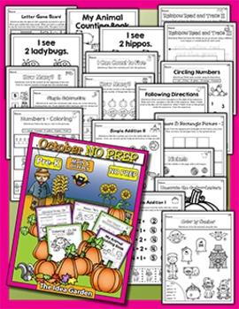 Fall Bundle - NO PREP Math & Literacy (Pre-K) - (Sept/Oct/Nov)