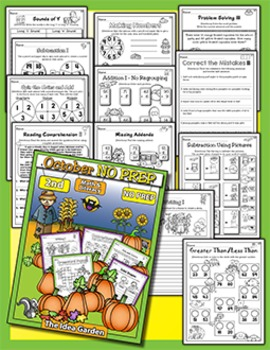 Fall Bundle - NO PREP Math & Literacy (Second) - (Sept/Oct/Nov)