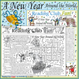 50% Off Bundle: New Years Around the World Two-Page Activity Set and Crossword