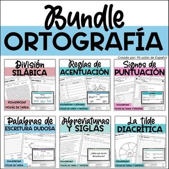 Bundle - ORTOGRAFIA - Acentos, silabas, signos de puntuacion, abreviaturas
