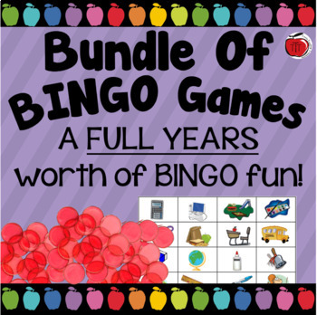Bundle Of Bingo Games For The Entire Year!!!