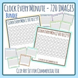 Bundle - One Clock for Every Minute - 720 images!  Clip Ar