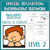 Independent Skill Work for Special Education Students-Level 2