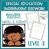 Independent Skill Work for Special Education Students-Level 3