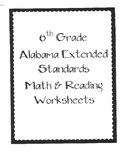Bundle Pack 6th Grade Alabama Extended Standards