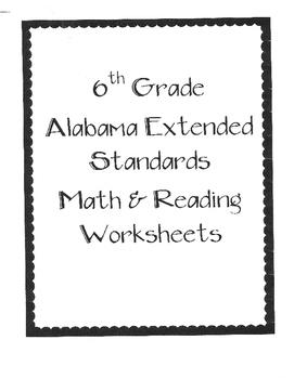 Bundle Pack 6th Grade Alabama Extended Standards