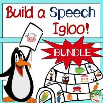 Articulation Winter Craftivity: Build A Speech Igloo Bundle!