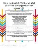 *Bundle Pack* CCSS Literature Scavenger Hunts Grades 3-5