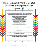 *Bundle Pack* CCSS Literature Scavenger Hunts Grades 3-5