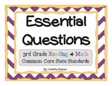 Essential Questions Posters Bundle Pack - 3rd Grade Readin